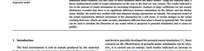 Linear sound attenuation model