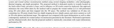 Wound 3D geometrical feature estimation using Poisson reconstruction