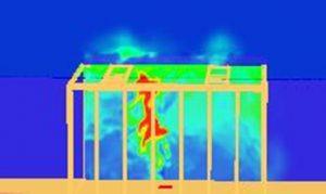 Rozkład temperatury w czasie rozwoju pożaru, w modelu budynku poddanym działaniu wiatru    dr hab. inż. Małgorzata Król