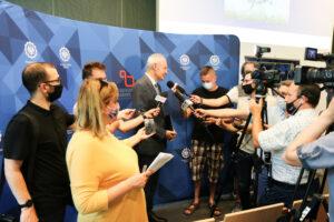 Briefing prasowy z udziałem Prorektora prof. Marka Pawełczyka